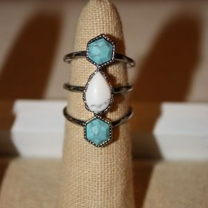 Turkish Delight Triple Band Ring
